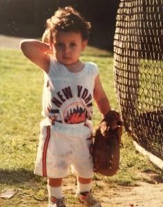 T.J. Rivera in Mets uniform as a toddler in Bronx, N.Y.