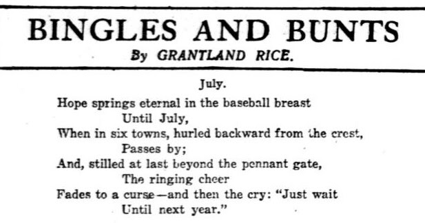 The Washington Times June 29 1914 Home Editino page 11 - Grantland Rice poem - w wait until next year