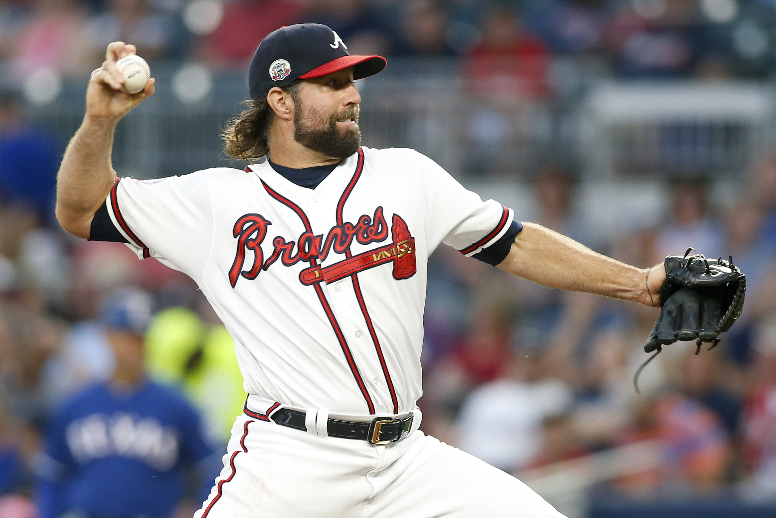 MLB: Texas Rangers at Atlanta Braves